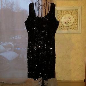 Black Sequined Dress - Gorgeous LBD